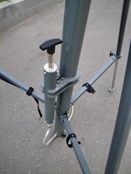 Пневмомачта со спиральным кабелем