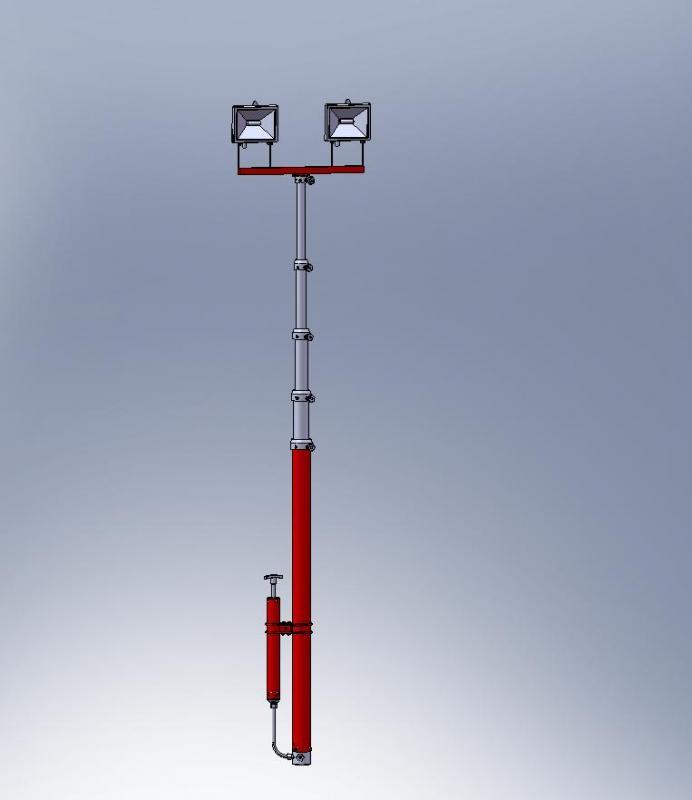 Телескопическая осветительная мачта М 18-35