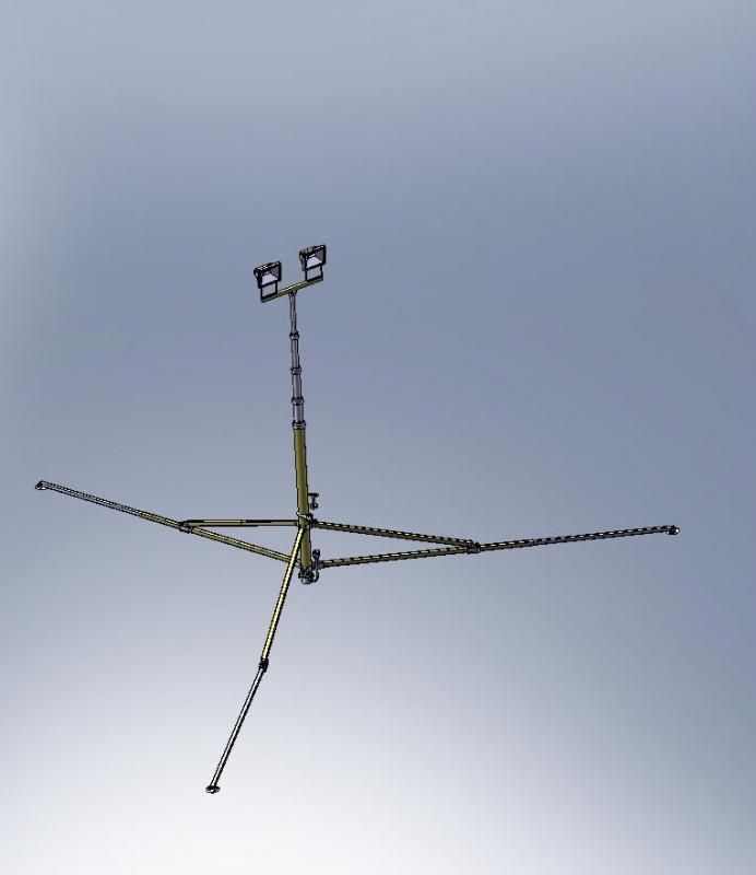 Телескопическая осветительная мачта М 15-35