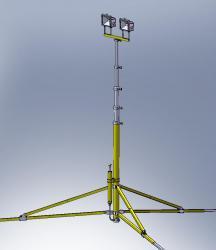Телескопическая осветительная мачта М 12-35