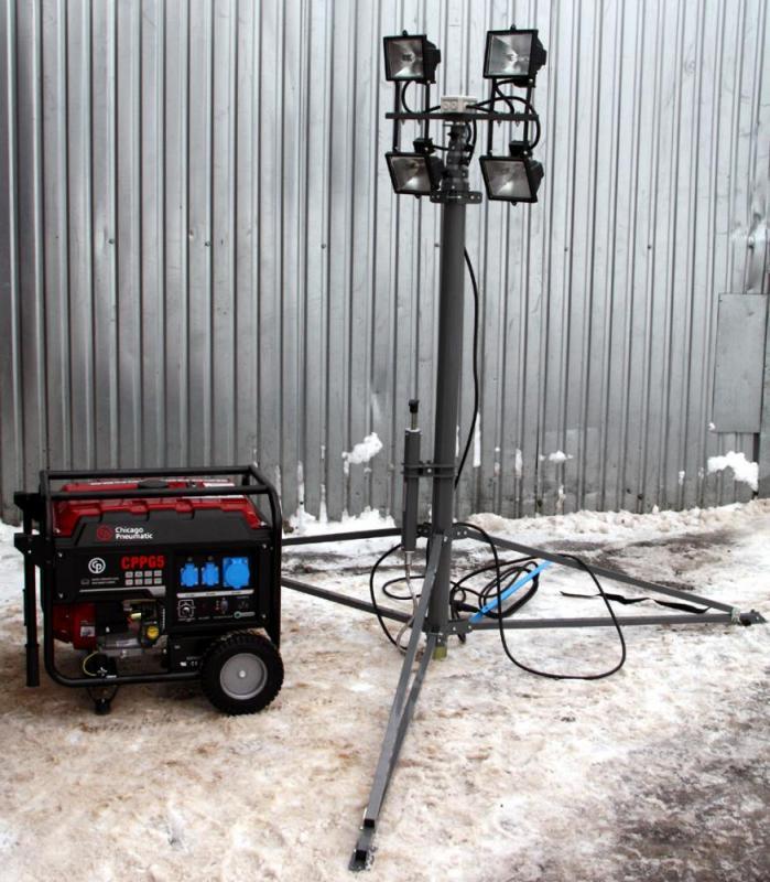 Осветительная мачта с генератором