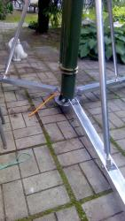 Мачта-тандем телескопическая с отсутствием осевого вращения